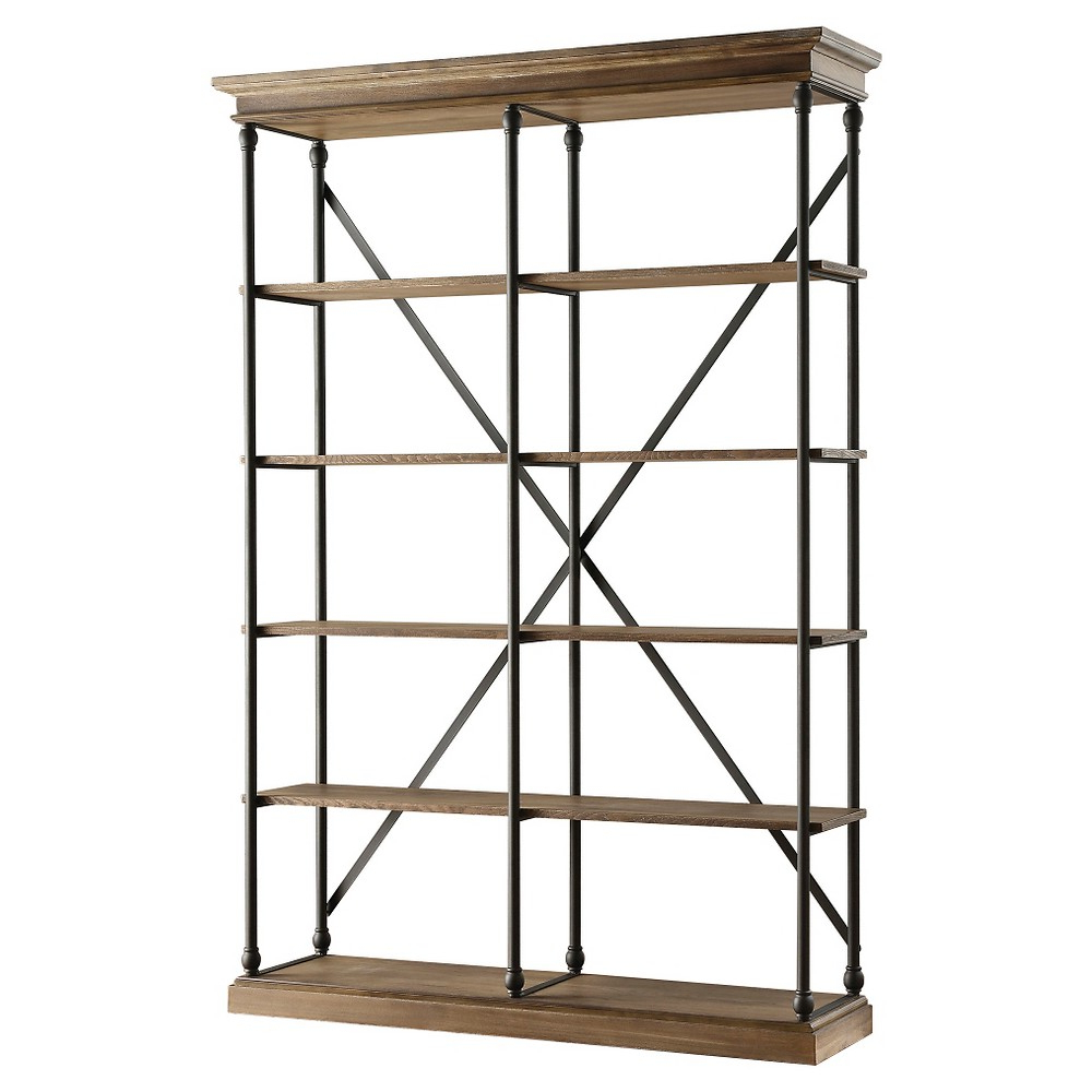 "Belvidere 84"" 5 Shelf Bookcase – Black – Inspire Q With Well Known Beckwith Etagere Bookcases (Gallery 2 of 20)"