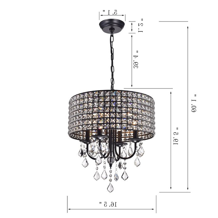 Benedetto 5 Light Crystal Chandeliers Intended For Popular Albano 4 Light Crystal Chandelier (View 15 of 25)