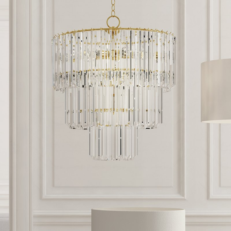 Benedetto 5 Light Crystal Chandeliers Throughout 2017 Grisella 9 Light Crystal Chandelier (View 8 of 25)