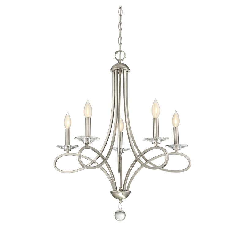Berger 5 Light Candle Style Chandeliers Intended For Popular Berger 5 Light Candle Style Chandelier (Gallery 2 of 25)