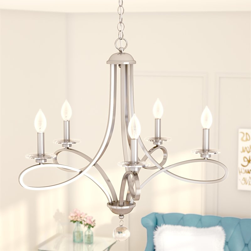 Featured Photo of Berger 5 Light Candle Style Chandeliers