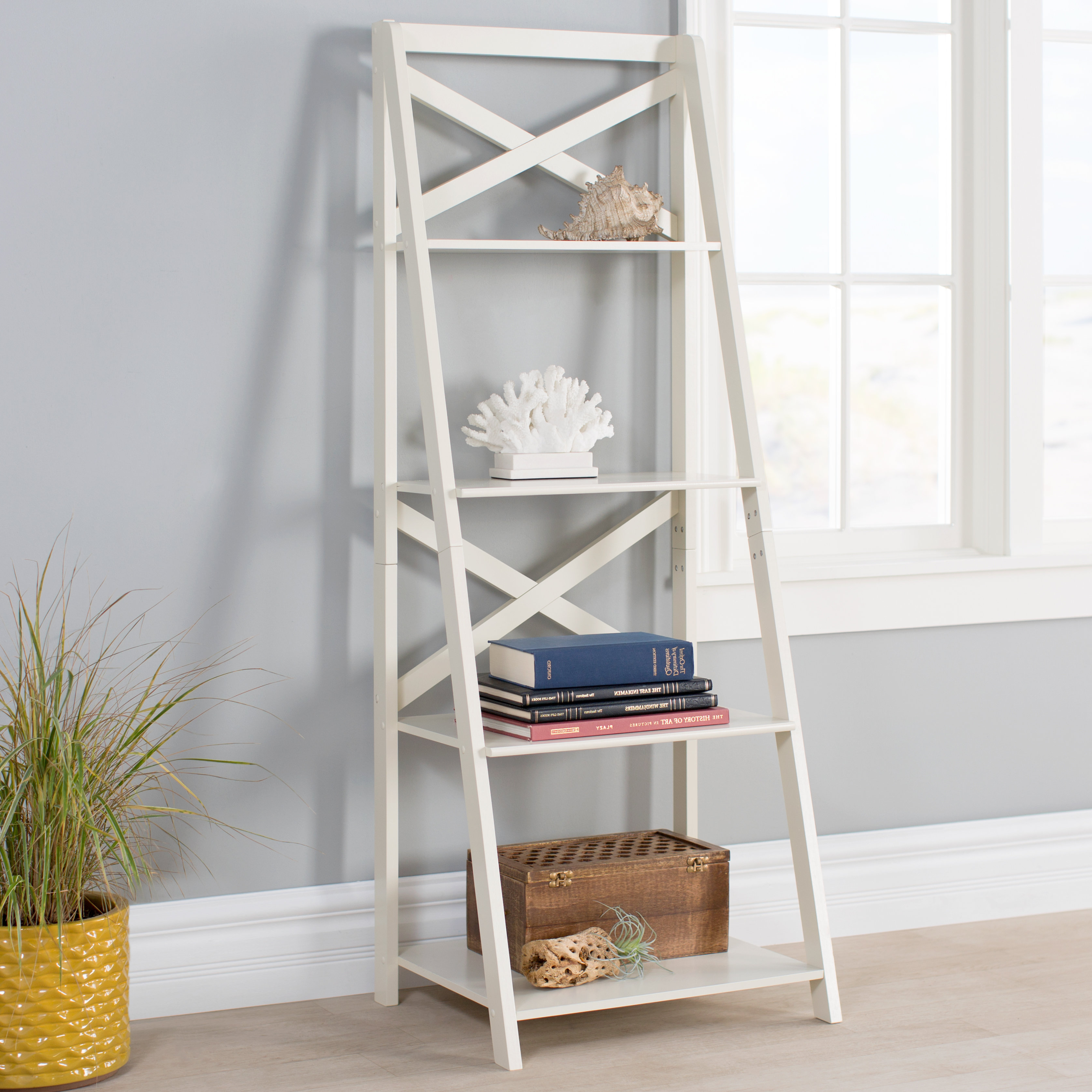 Best And Newest Alfred Ladder Bookcase Intended For Kaitlyn Ladder Bookcases (Gallery 15 of 20)