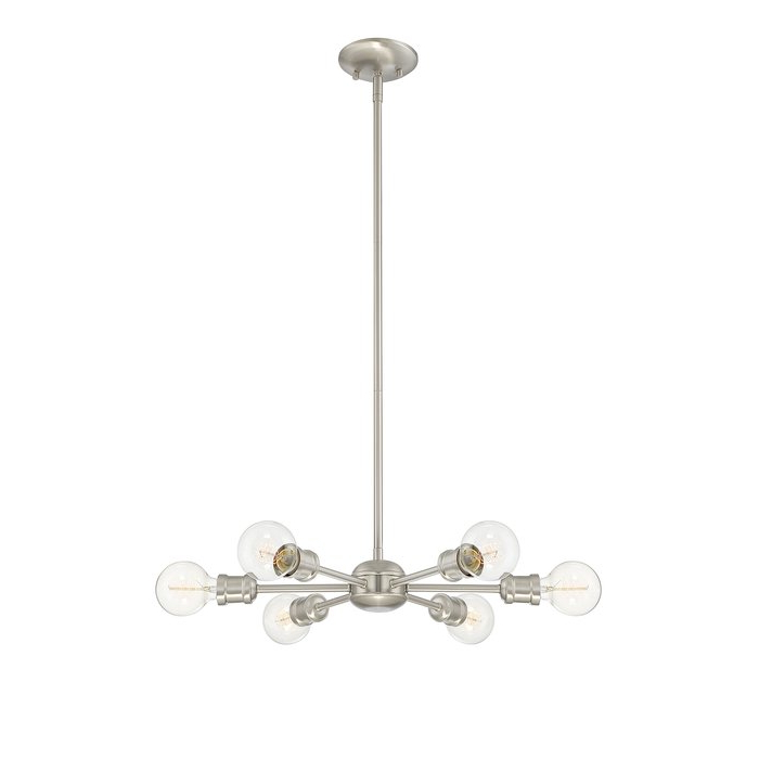 Best And Newest Bautista 6 Light Sputnik Chandelier Throughout Bautista 6 Light Sputnik Chandeliers (View 11 of 25)