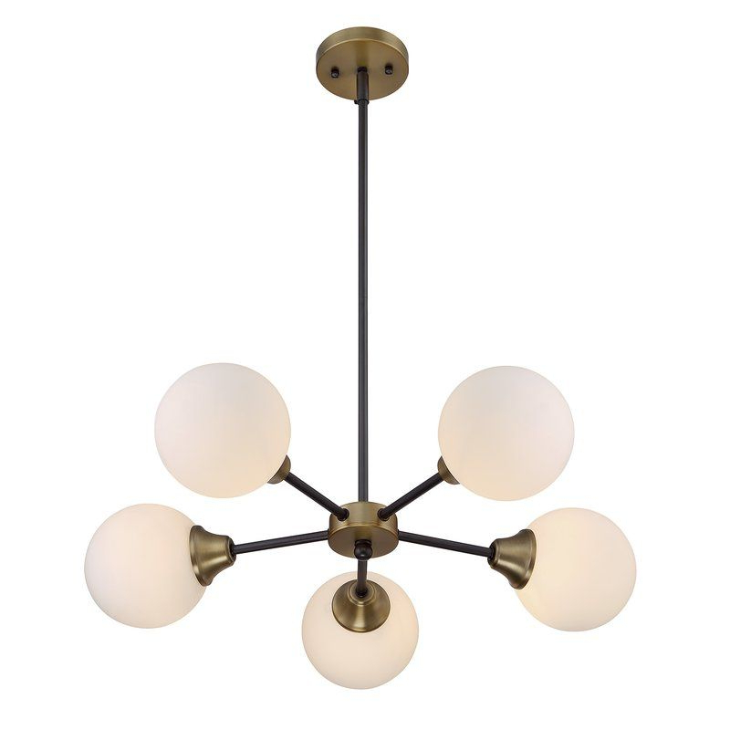 Best And Newest Bautista 6 Light Sputnik Chandeliers Intended For Bautista 5 Light Sputnik Chandelier In (View 19 of 25)