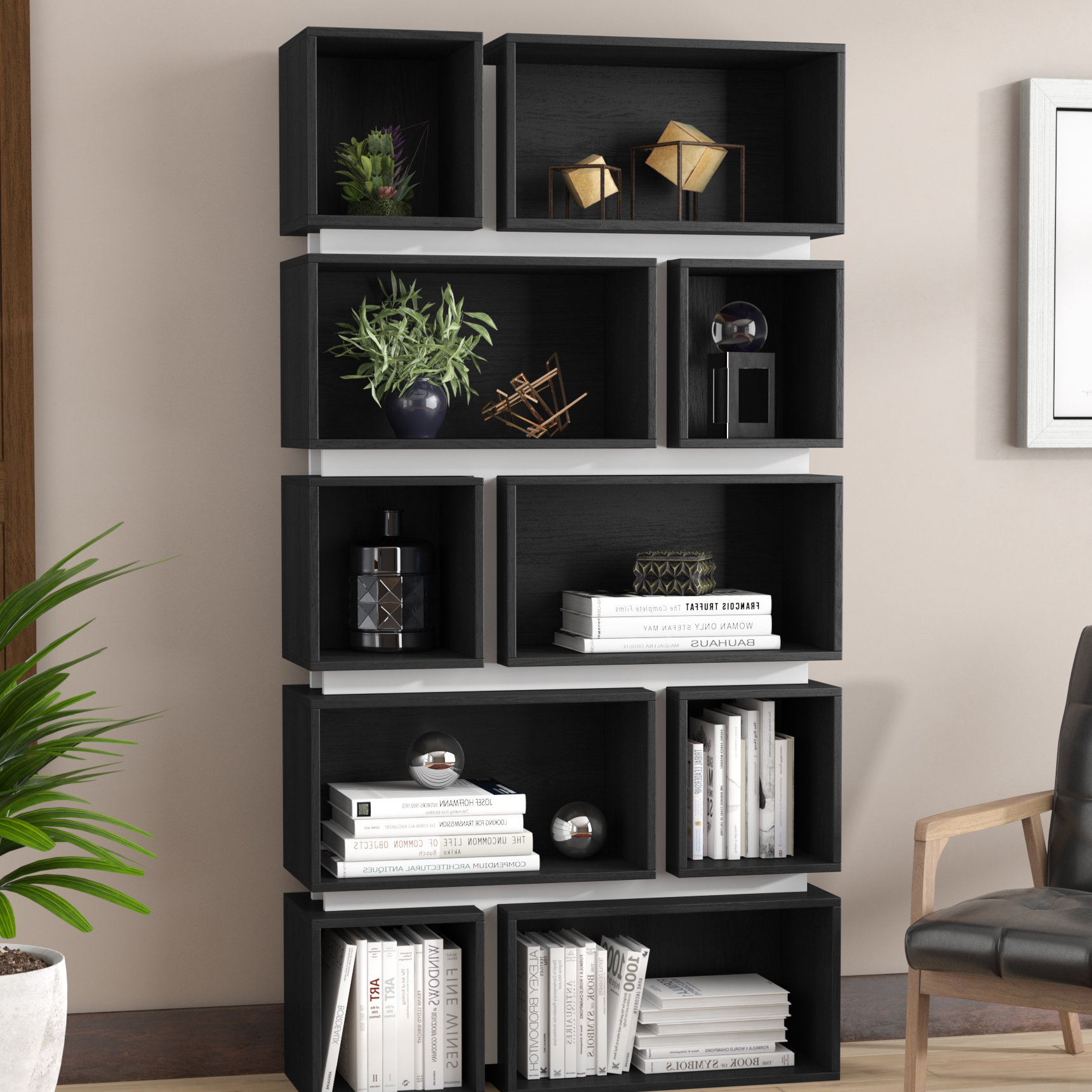 Best And Newest Bradberry Geometric Bookcase Inside Chantilly Geometric Bookcases (View 19 of 20)