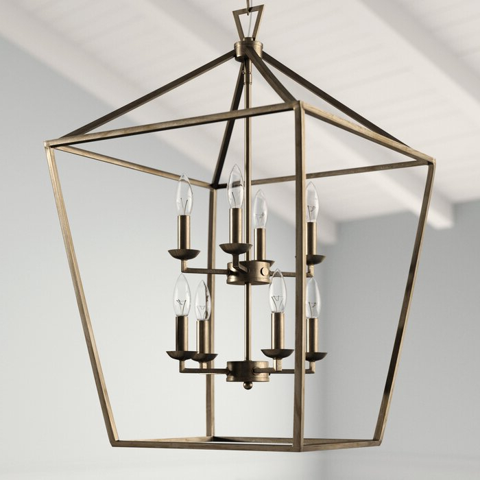 Best And Newest Carmen 8 Light Lantern Tiered Pendants In Carmen 8 Light Lantern Geometric Pendant (Gallery 9 of 25)