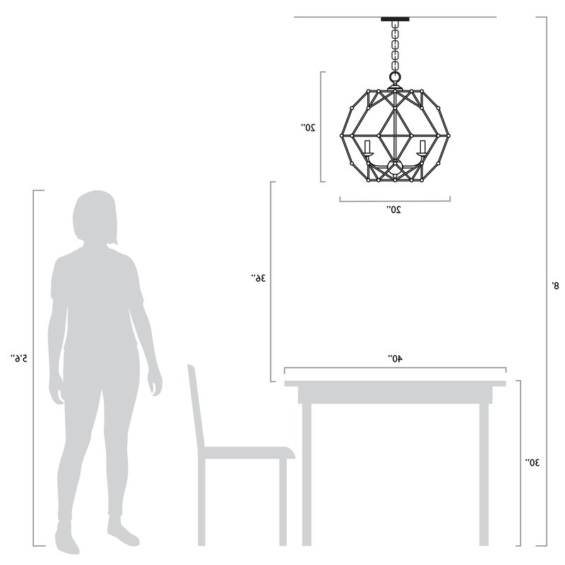 Best And Newest Cavanagh 4 Light Geometric Chandeliers In Cavanagh 4 Light Geometric Chandelier (View 6 of 25)