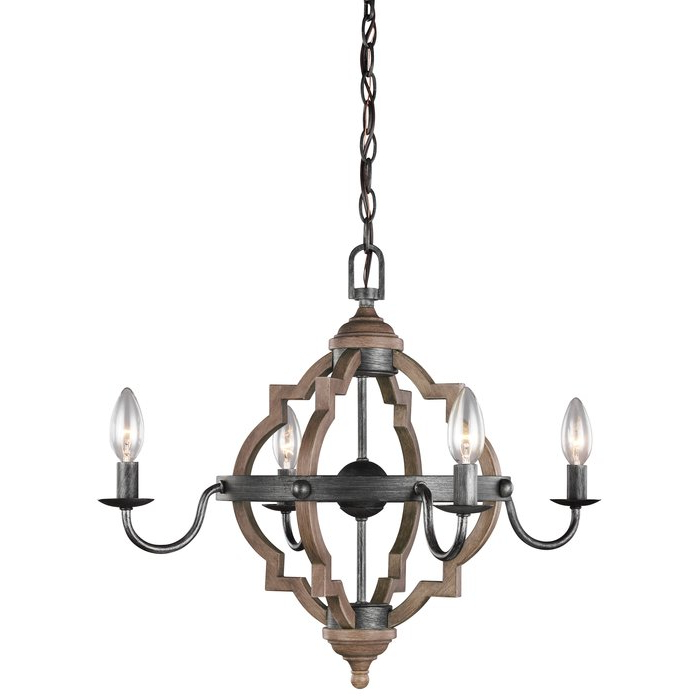 Best And Newest Donna 4 Light Candle Style Chandelier With Regard To Bennington 4 Light Candle Style Chandeliers (View 9 of 25)