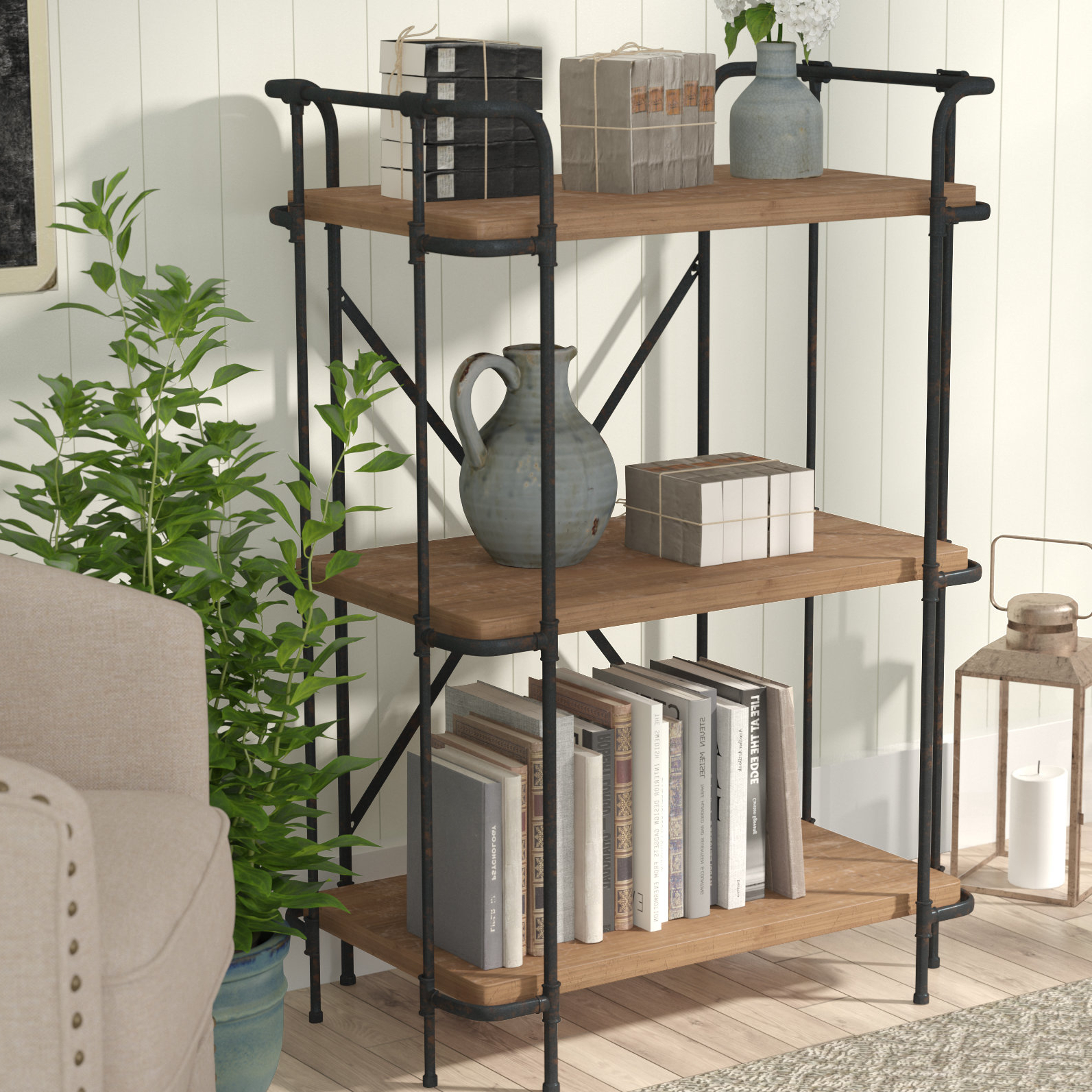 Best And Newest Earline Etagere Bookcases For Navarrette Etagere Bookcase (View 19 of 20)