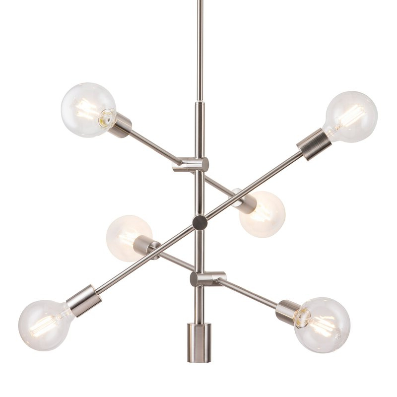 Best And Newest Eladia 6 Light Sputnik Chandeliers Pertaining To Eladia 6 Light Sputnik Chandelier (Gallery 2 of 25)