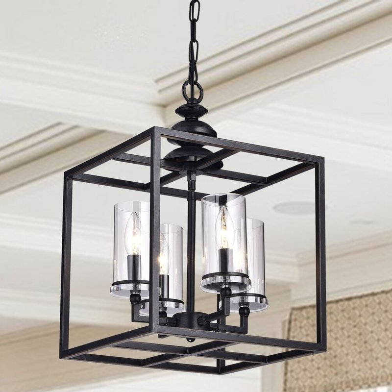 Best And Newest Ellenton 4 Light Rectangle Chandeliers With Regard To Cheverton 4 Light Square/rectangle Chandelier (Gallery 6 of 25)