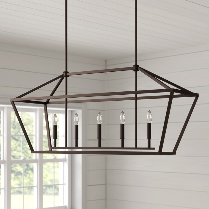 Best And Newest Freemont 5 Light Kitchen Island Linear Chandelier With Regard To Freemont 5 Light Kitchen Island Linear Chandeliers (Gallery 8 of 25)