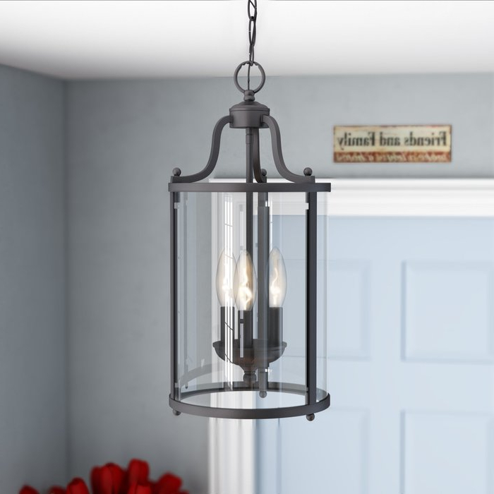 Best And Newest Gabriella 3 Light Lantern Chandeliers Regarding Tessie 3 Light Lantern Cylinder Pendant (View 1 of 25)
