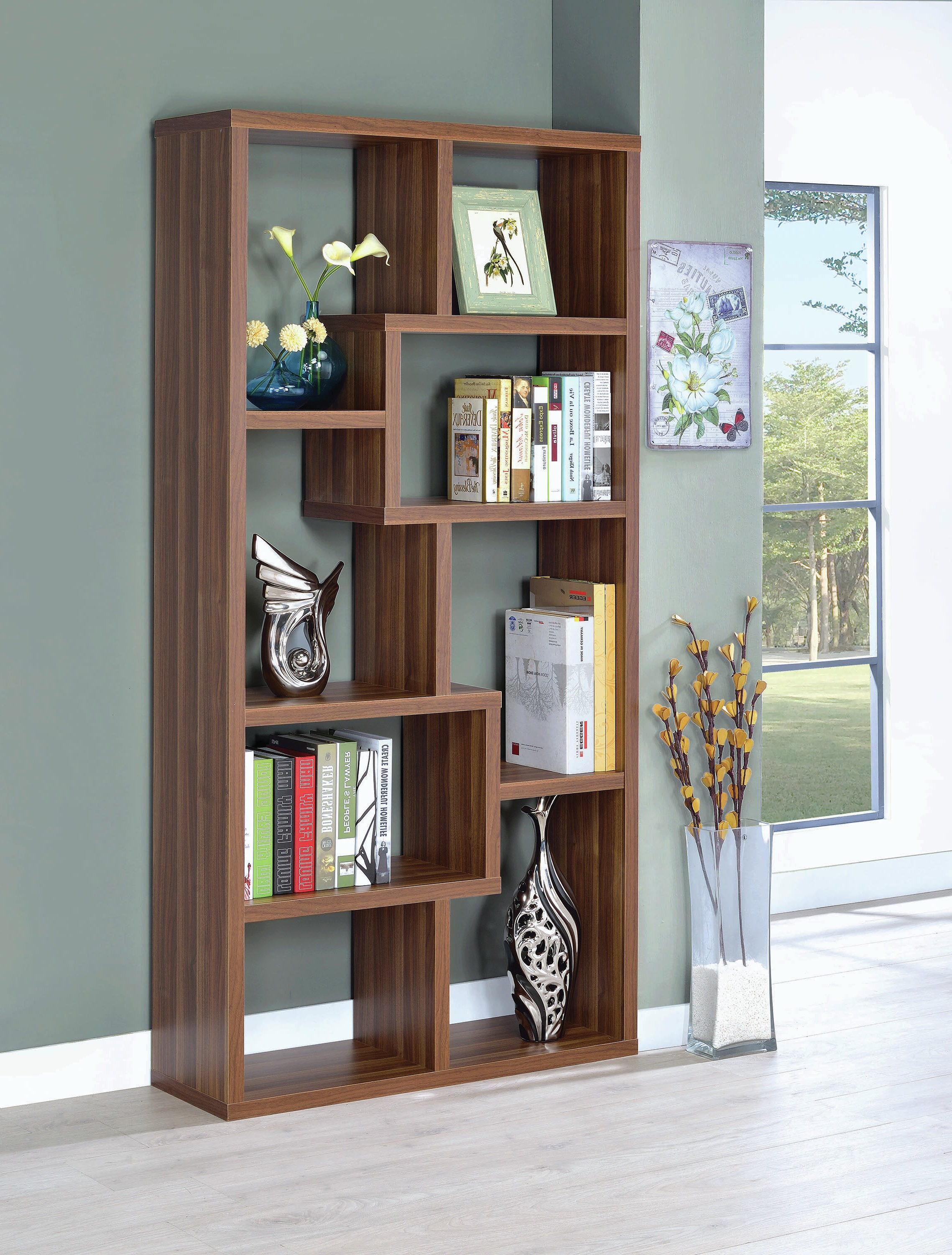 Best And Newest Harkless Geometric Bookcase Pertaining To Harkless Standard Bookcases (View 3 of 20)
