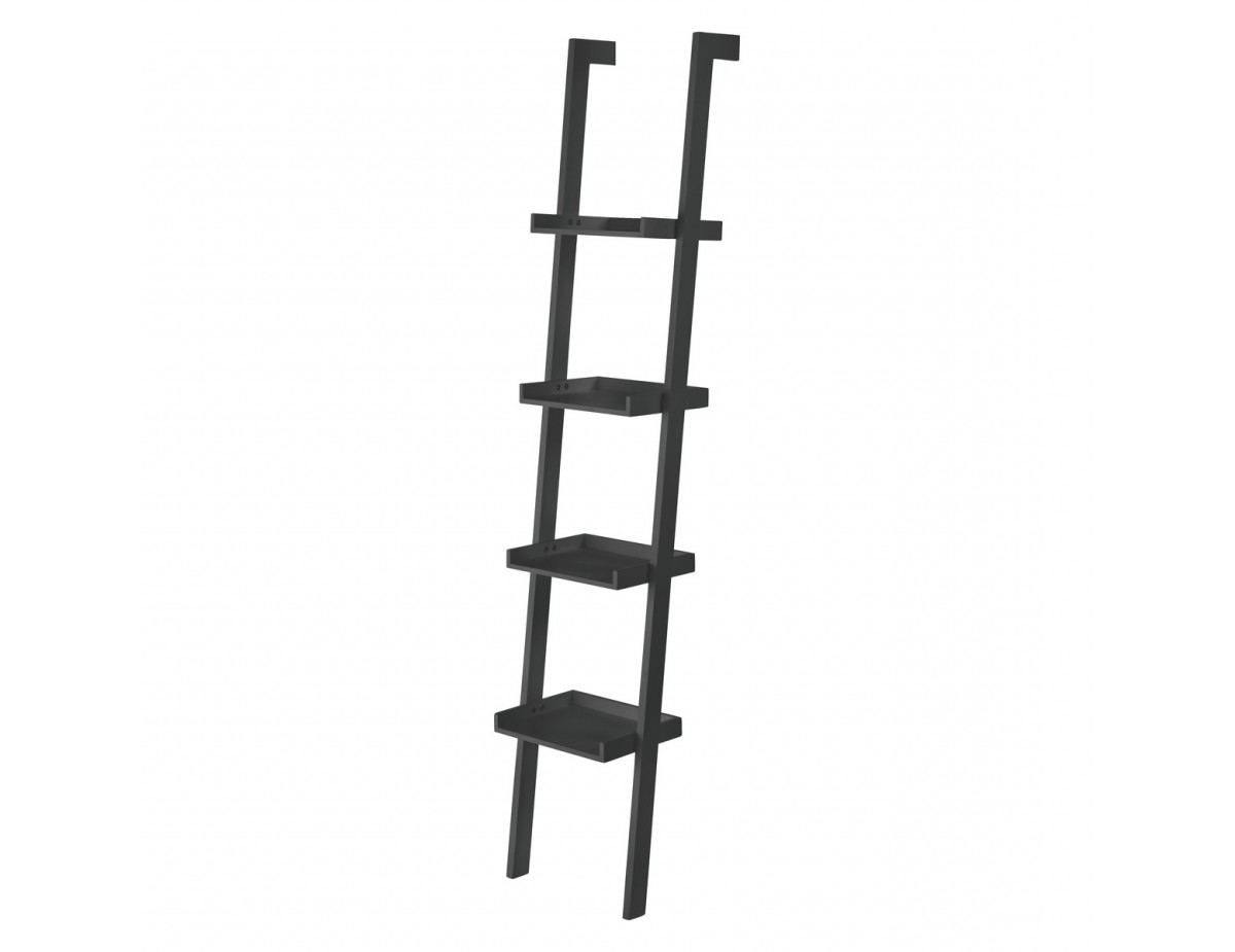 Best And Newest Jessie Black Narrow Leaning Bookcase With Narrow Ladder Bookcases (View 3 of 20)