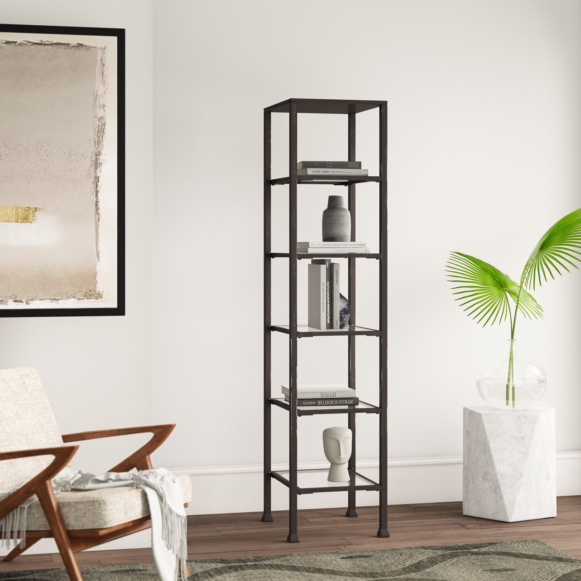 Best And Newest Karle Etagere Bookcase Within Emerson Corner Unit Bookcases (View 2 of 20)