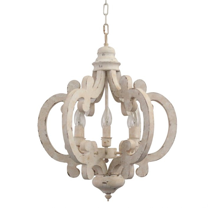 Best And Newest Lynn 6 Light Geometric Chandeliers Pertaining To Kacie Cottage Crown 6 Light Candle Style Chandelier (View 9 of 25)