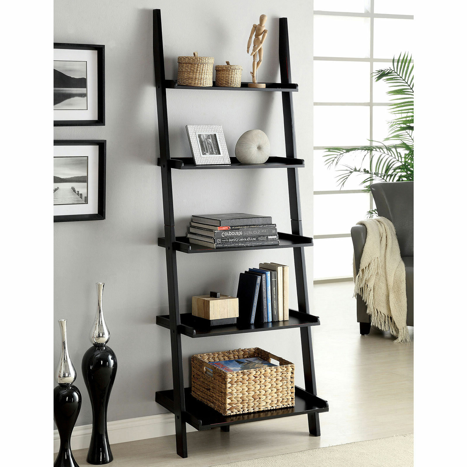 Best And Newest Nailsworth Ladder Bookcases With Herron Ladder Bookcase (View 3 of 20)