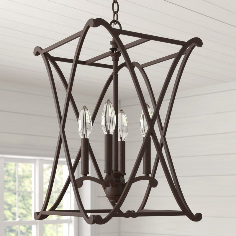 Best And Newest Nisbet 4 Light Lantern Geometric Pendants Inside Nisbet 4 Light Lantern Geometric Pendant (View 3 of 25)