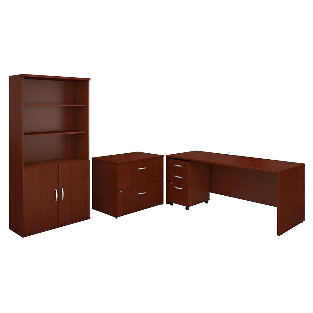 Best And Newest Series C 72W Office Desk With Bookcase And File Cabinets With Regard To Series C Standard Bookcases (Gallery 19 of 20)
