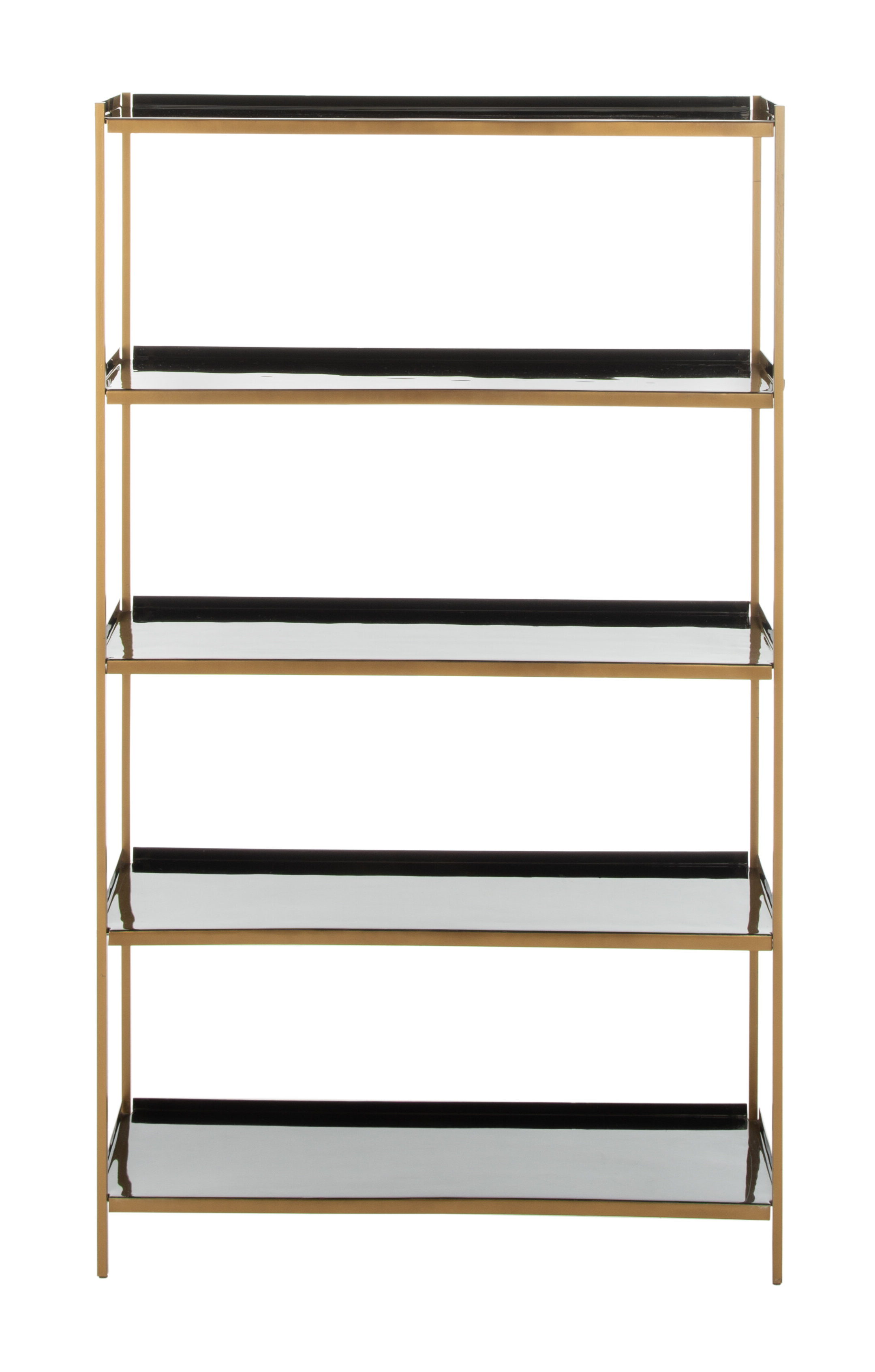 Best And Newest Silsbee 5 Tier Etagere Bookcase Pertaining To Parker Modern Etagere Bookcases (View 3 of 20)