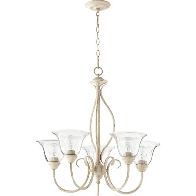Best And Newest Suki 5 Light Shaded Chandeliers Throughout Fleur De Lis Living Bernardston 5 Light Shaded Chandelier (View 20 of 25)