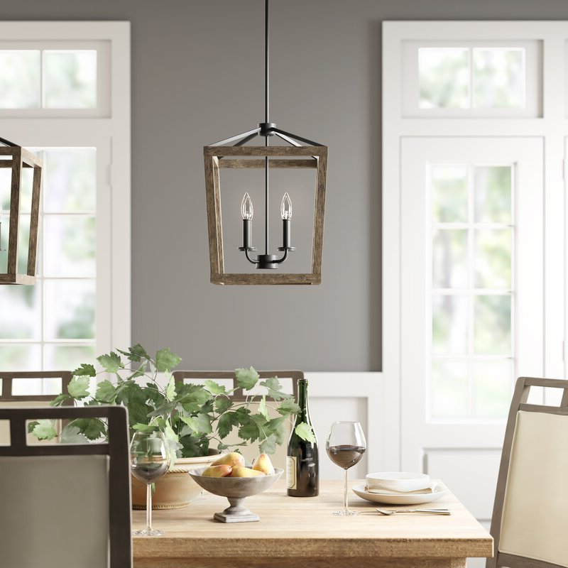 Best And Newest Thorne 4 Light Lantern Rectangle Pendants Inside 4 Light Lantern Square / Rectangle Pendant (Gallery 20 of 25)