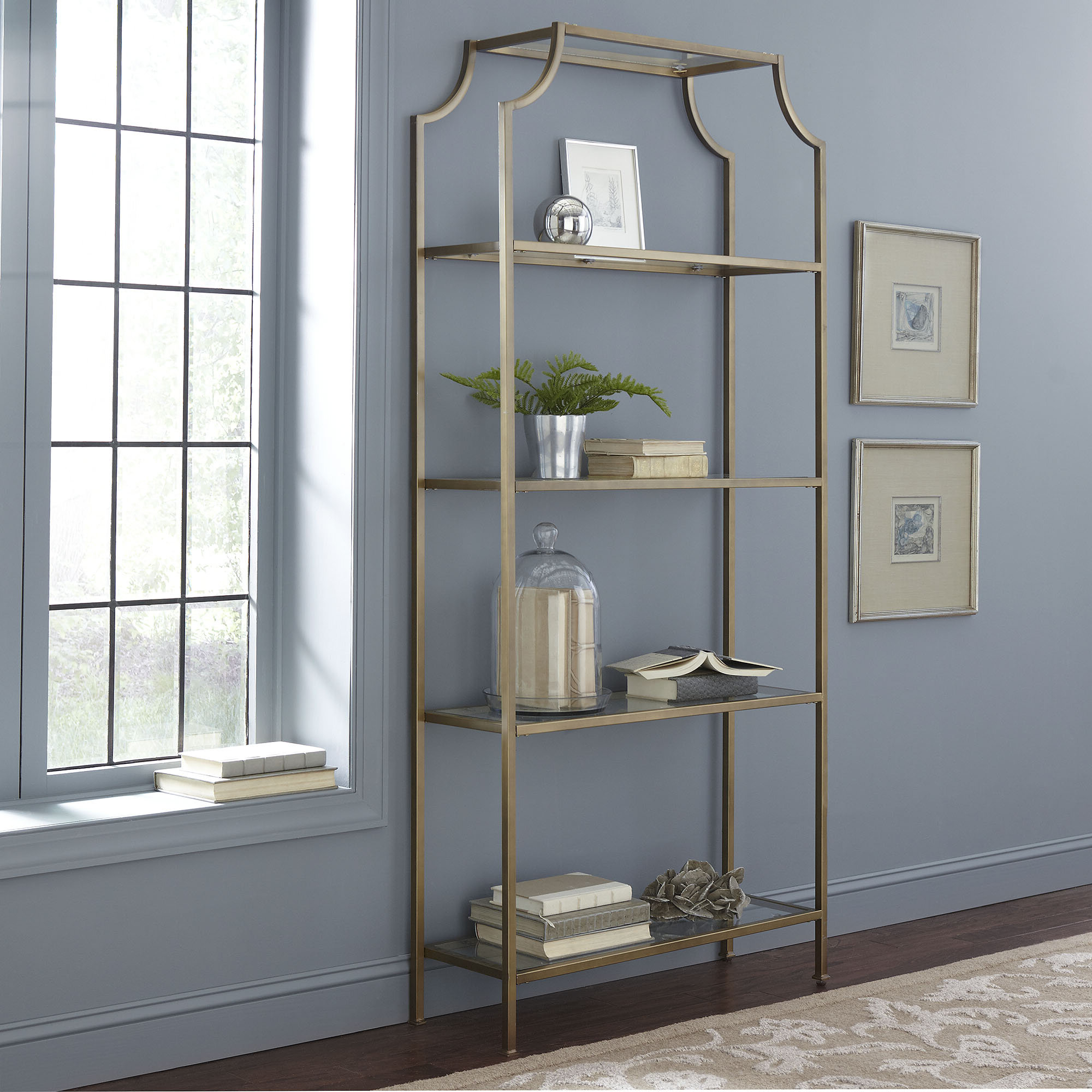Birch Lane™ Heritage Buchanan Etagere Bookcase Intended For Trendy Whipkey Etagere Bookcases (View 9 of 20)