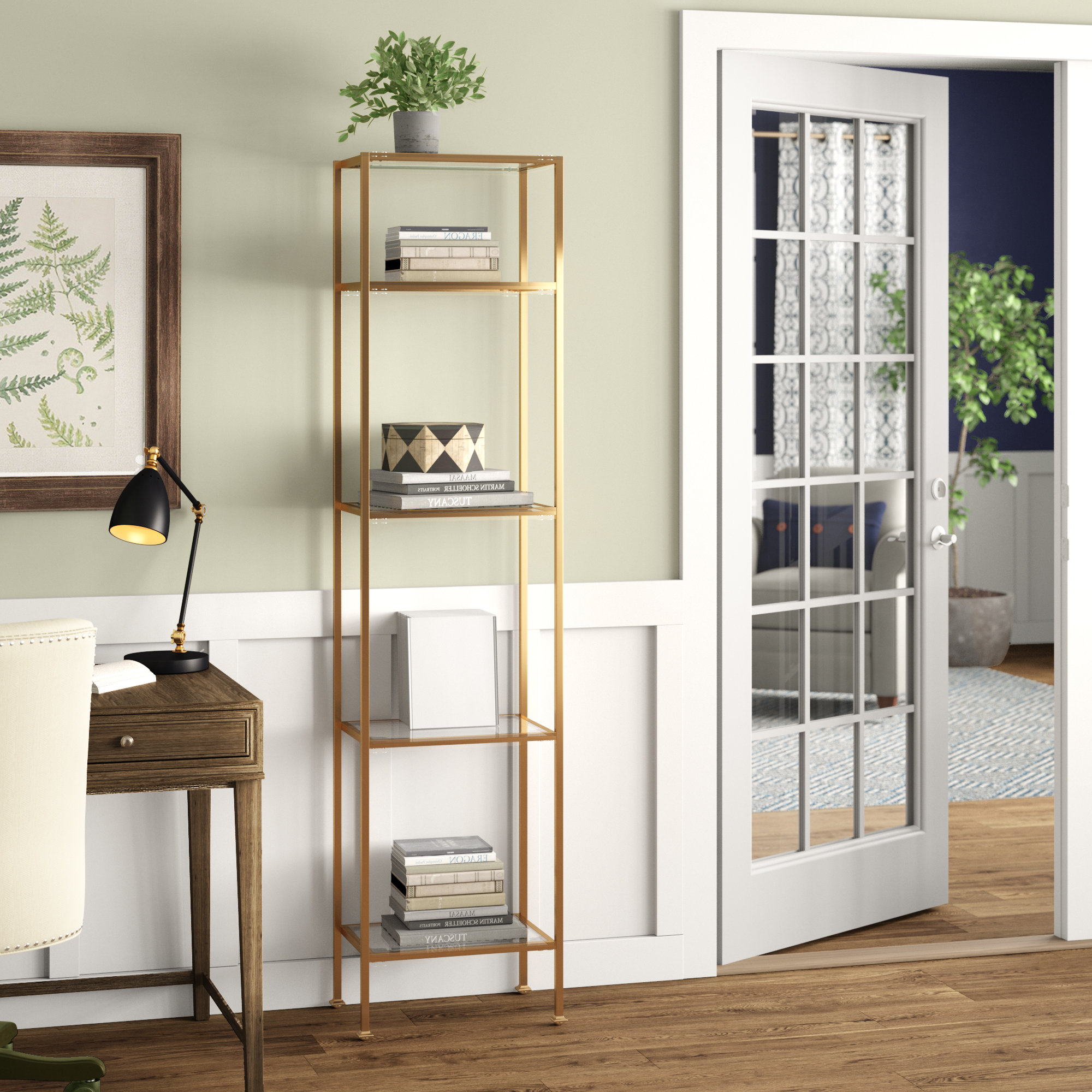 Birch Lane™ Heritage Buchanan Etagere Bookcase & Reviews Intended For Most Recent Buchanan Etagere Bookcases (Gallery 1 of 20)