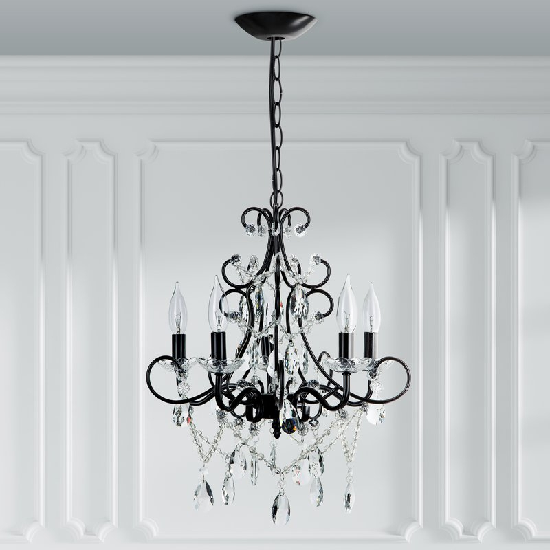 Blanchette 5 Light Candle Style Chandelier In Popular Blanchette 5 Light Candle Style Chandeliers (Gallery 1 of 25)