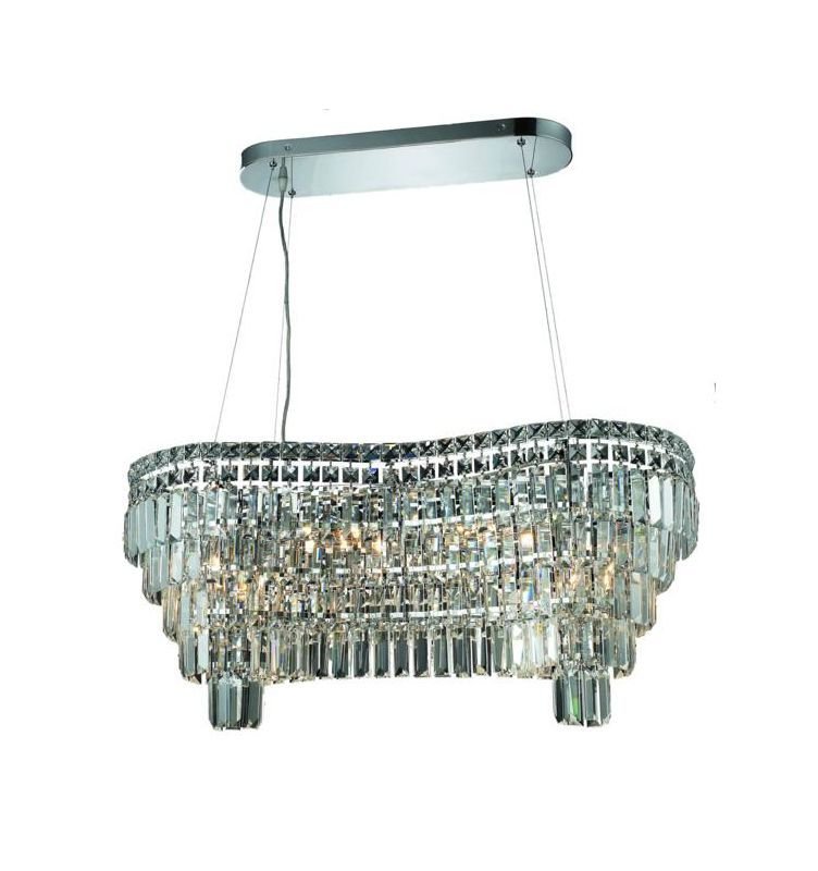 Blanchette 5 Light Candle Style Chandeliers With Most Recent Elegant Lighting 2019D32C/sa Swarovski Spectra Clear Crystal (View 7 of 25)