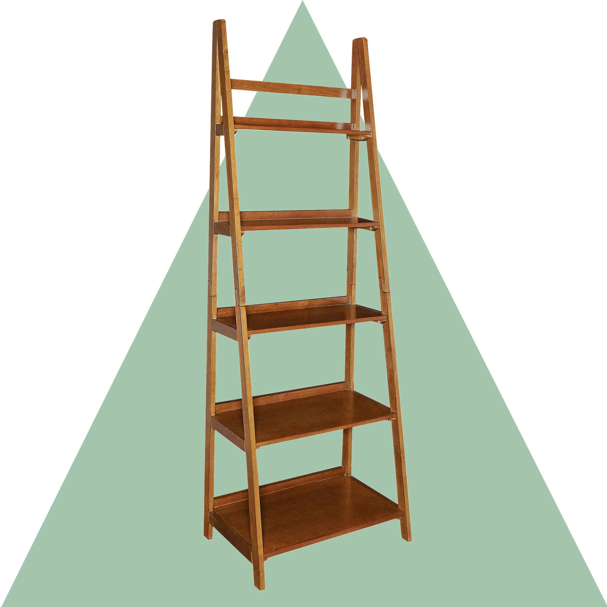 Blevens A Frame Ladder Bookcases With Regard To 2019 Brock Ladder Bookcase (View 13 of 20)