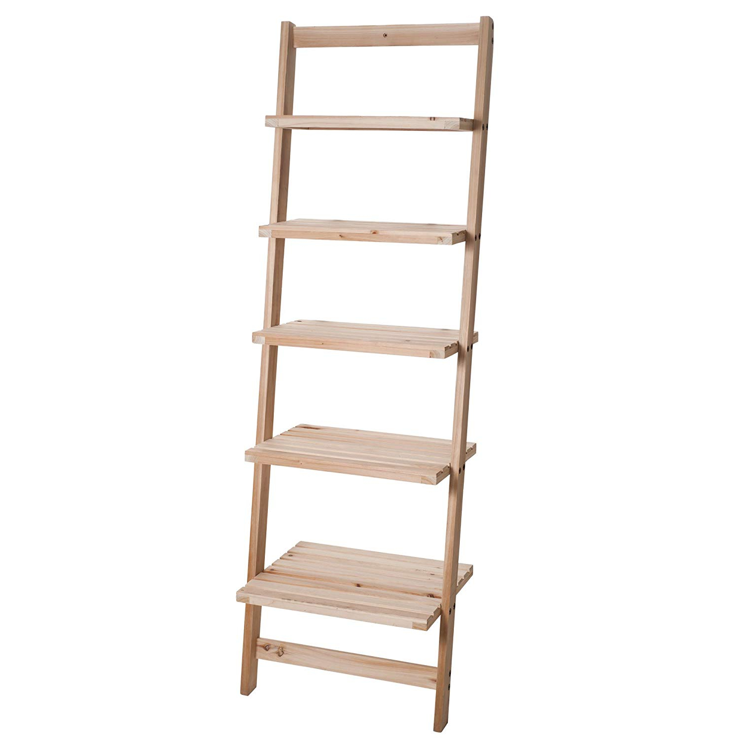Book Shelf For Living Room, Bathroom, And Kitchen Shelving, Home Décor Lavish Home 5 Tier Decorative Leaning Ladder Shelf Wood Display Shelving In Well Known Leandra Ladder Bookcases (View 12 of 20)