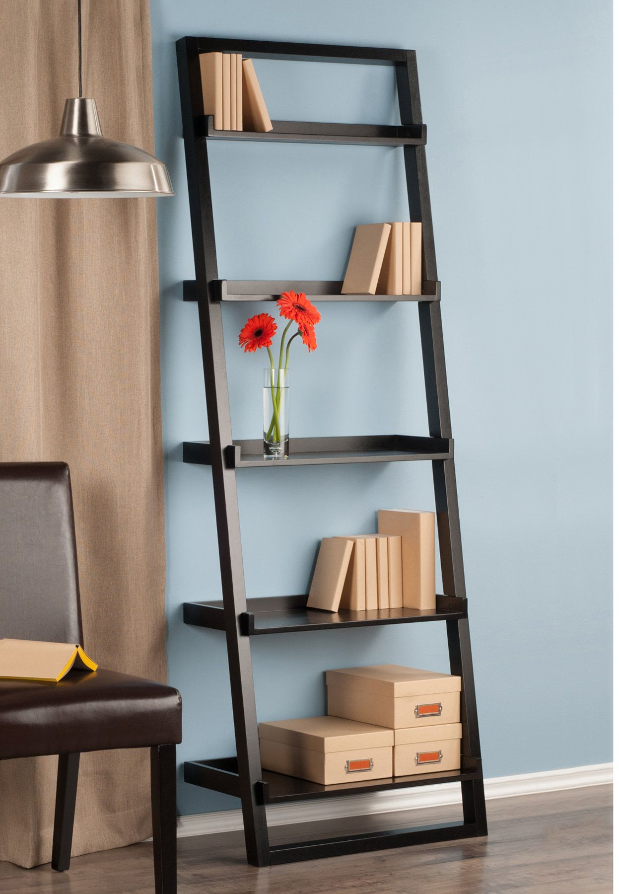 Bookcase, 5 Shelf With Regard To Most Up To Date Averett Ladder Bookcases (Gallery 4 of 20)
