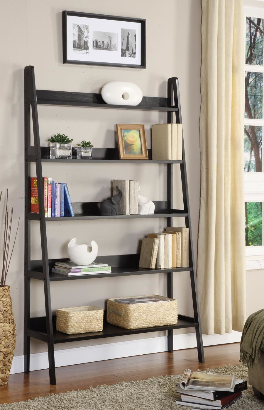 Bookcase, Ladder Within Favorite Bordelon Slatted Ladder Bookcases (View 8 of 20)