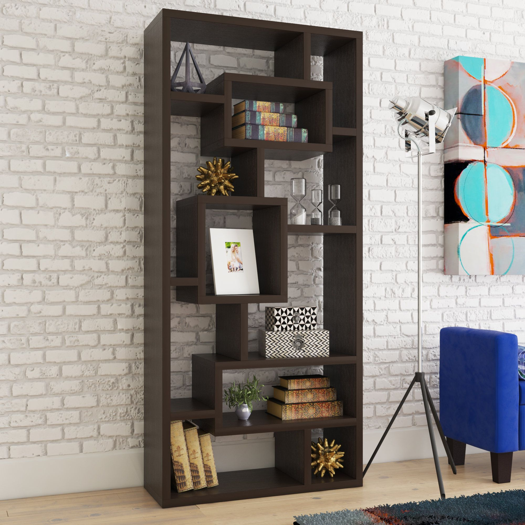 Bookcase Shelves With Newest Vaccaro Geometric Bookcases (Gallery 19 of 20)