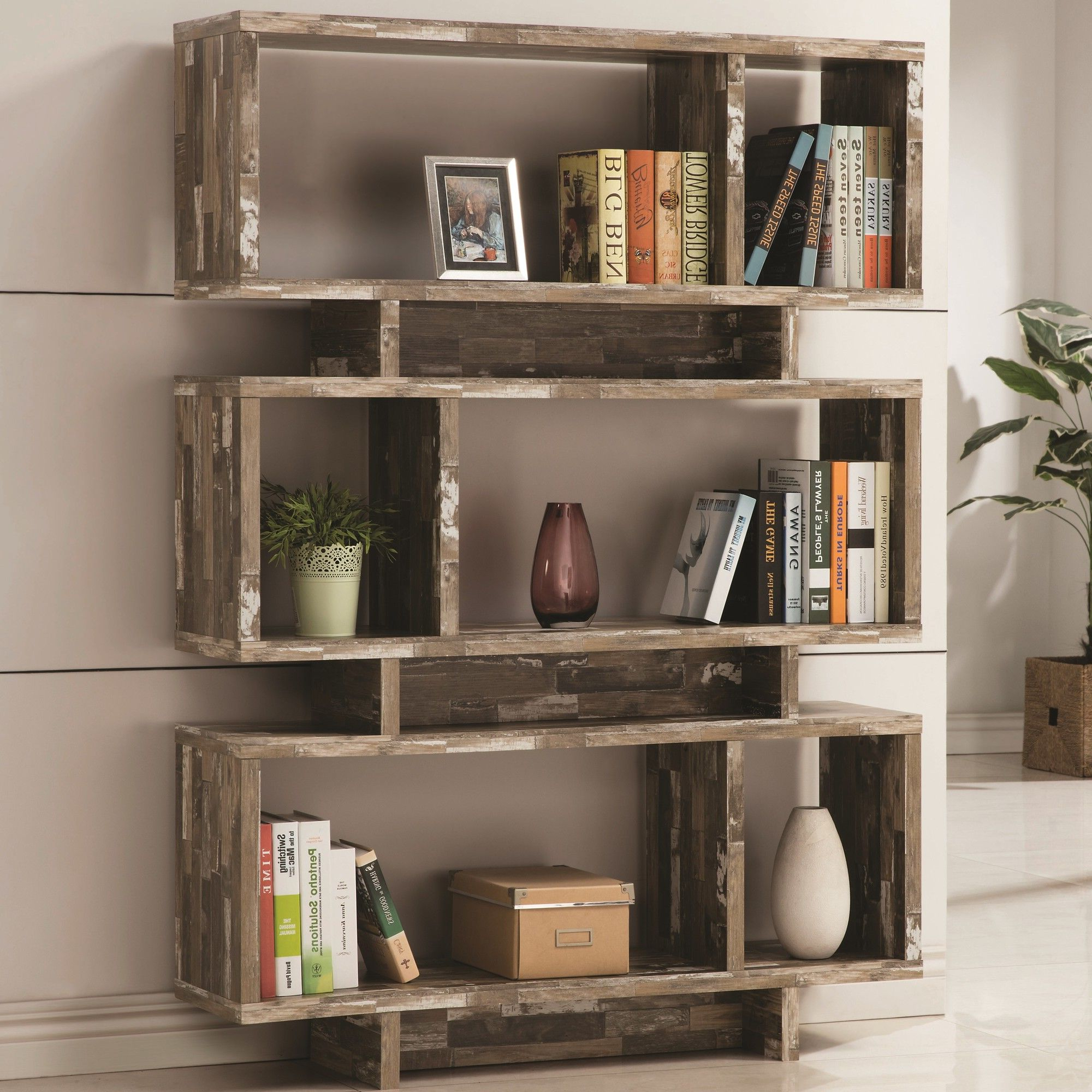 Bookcase Throughout 2019 Carnageeragh Geometric Bookcases (View 5 of 20)