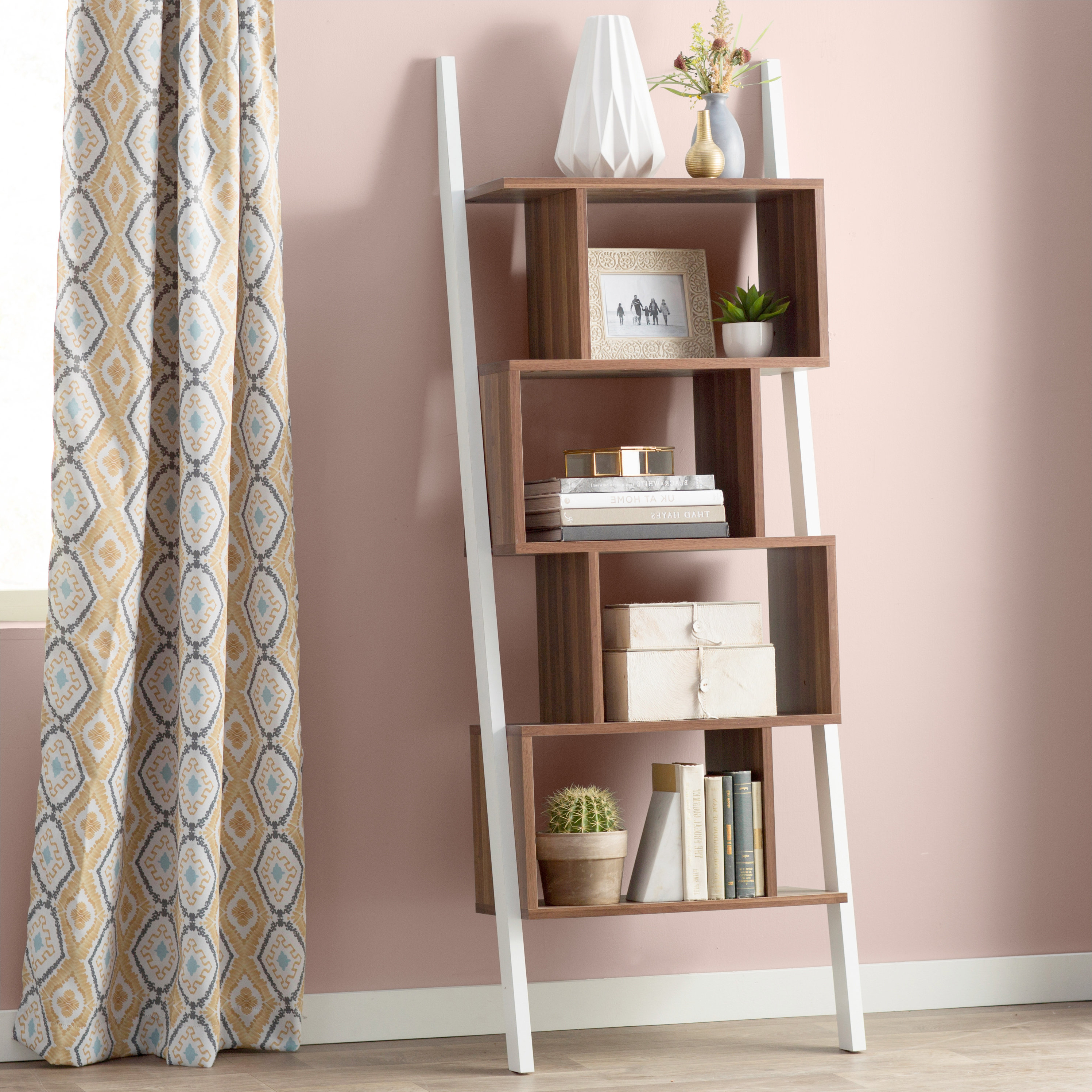 Featured Photo of Bostic Geometric Bookcases
