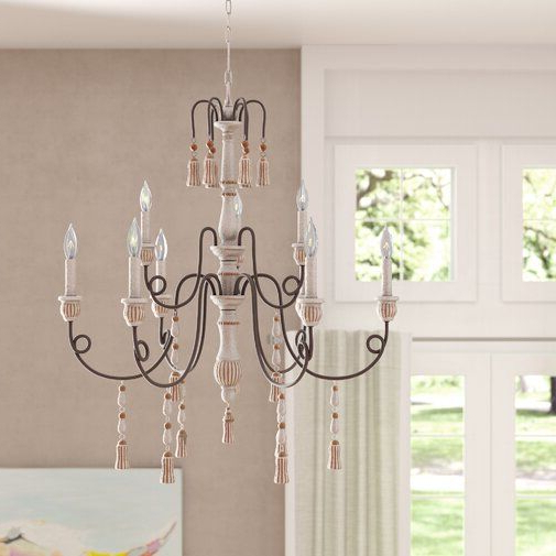 Bouchette Traditional 6 Light Candle Style Chandeliers For Preferred Hassan 9 Light Candle Style Chandelier (View 8 of 25)