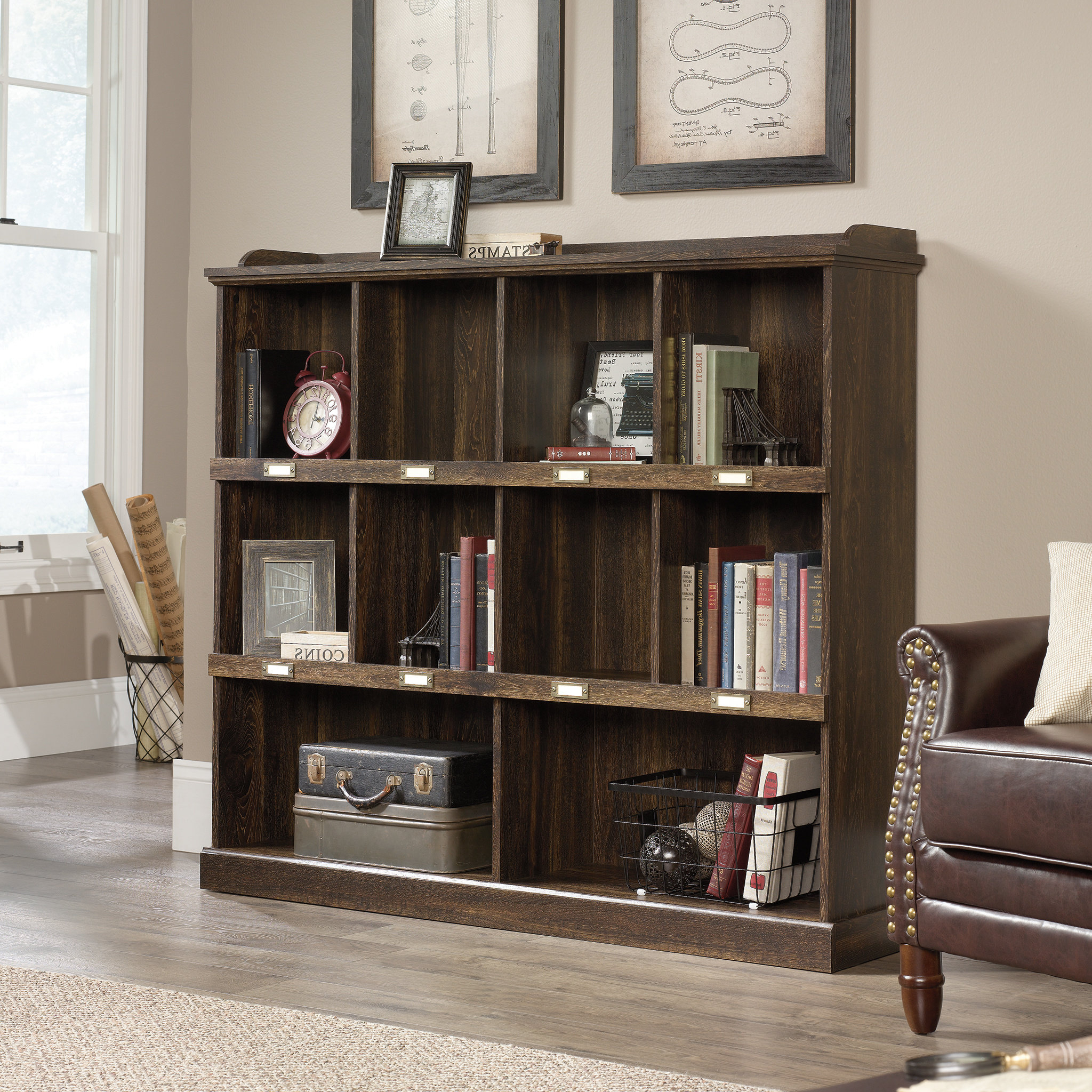 Bowerbank Standard Bookcase Inside Most Popular Strauss Cube Unit Bookcases (Gallery 11 of 20)