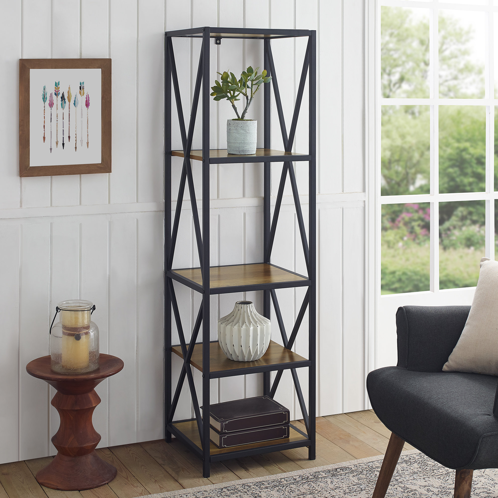 Bowman Etagere Bookcases Within Preferred Augustus Etagere Bookcase (View 20 of 20)