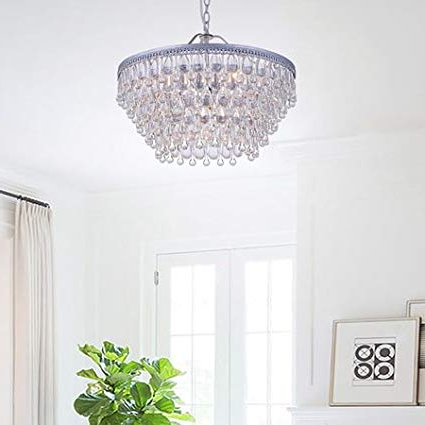 Bramers 6 Light Novelty Chandeliers With Regard To Favorite Wesley Crystal 6 Light Chandelier With Clear Teardrop Beads (View 14 of 25)
