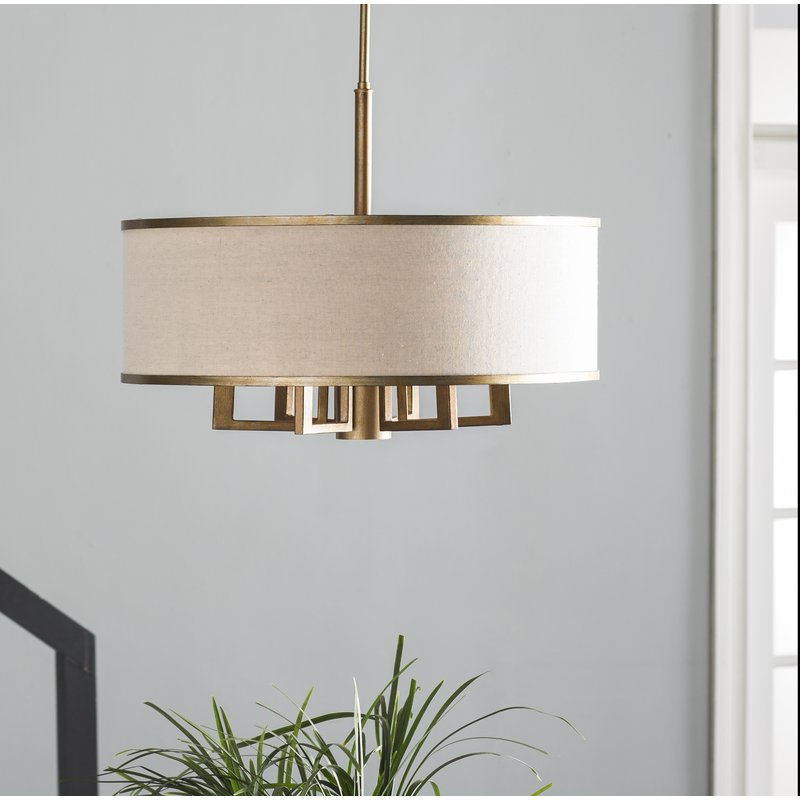 Breithaup 7 Light Drum Chandelier With Regard To Most Up To Date Breithaup 4 Light Drum Chandeliers (View 4 of 25)