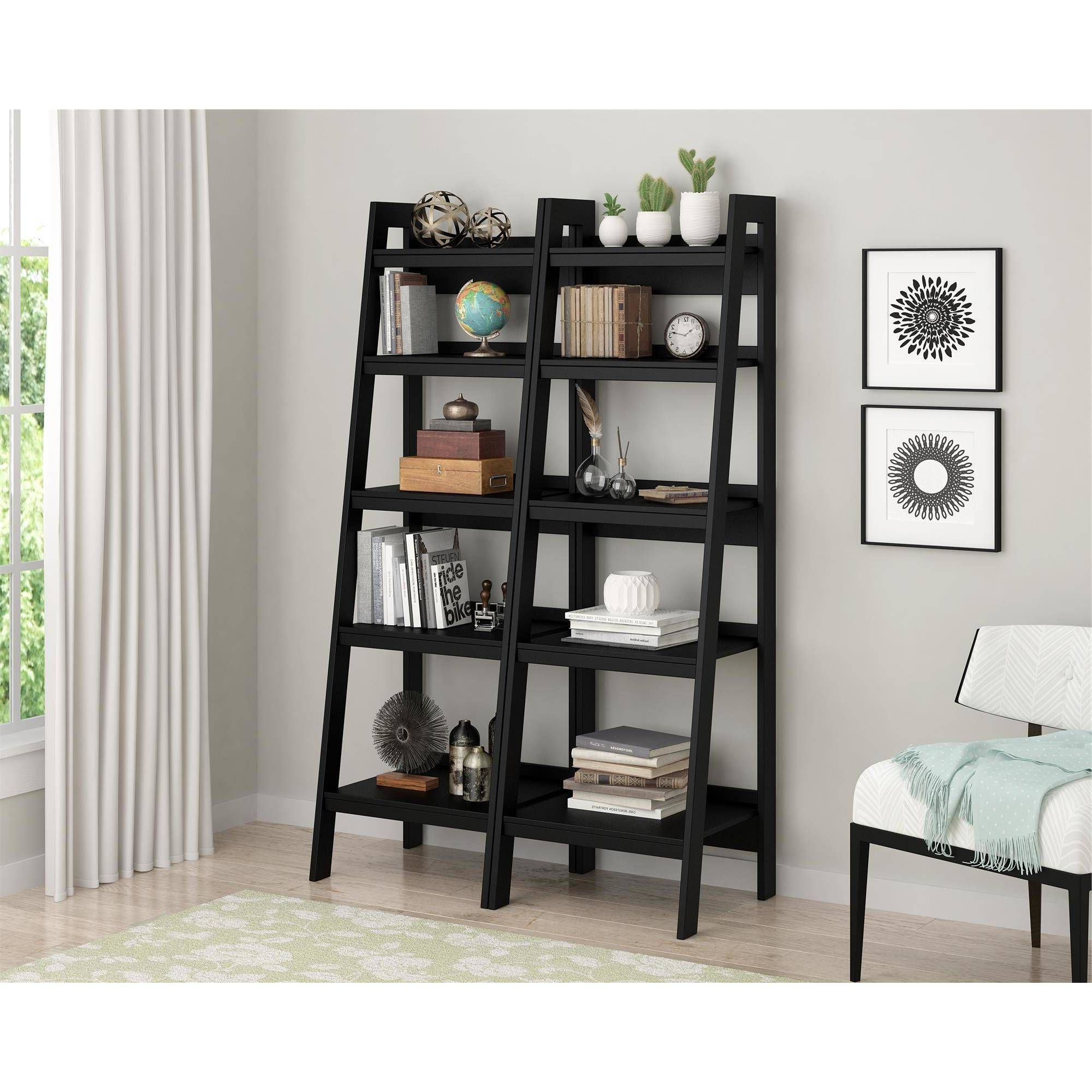 Bring Elegant Style To Your Living Space With The Sturdy Inside Preferred Nailsworth Ladder Bookcases (View 4 of 20)