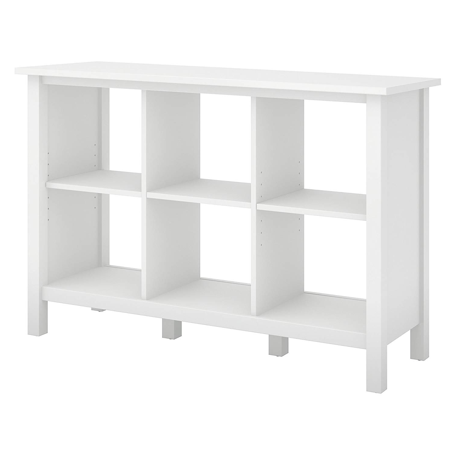 Broadview Cube Unit Bookcases For Most Recent Bush Furniture Broadview 6 Cube Storage Bookcase In Pure White (View 3 of 20)