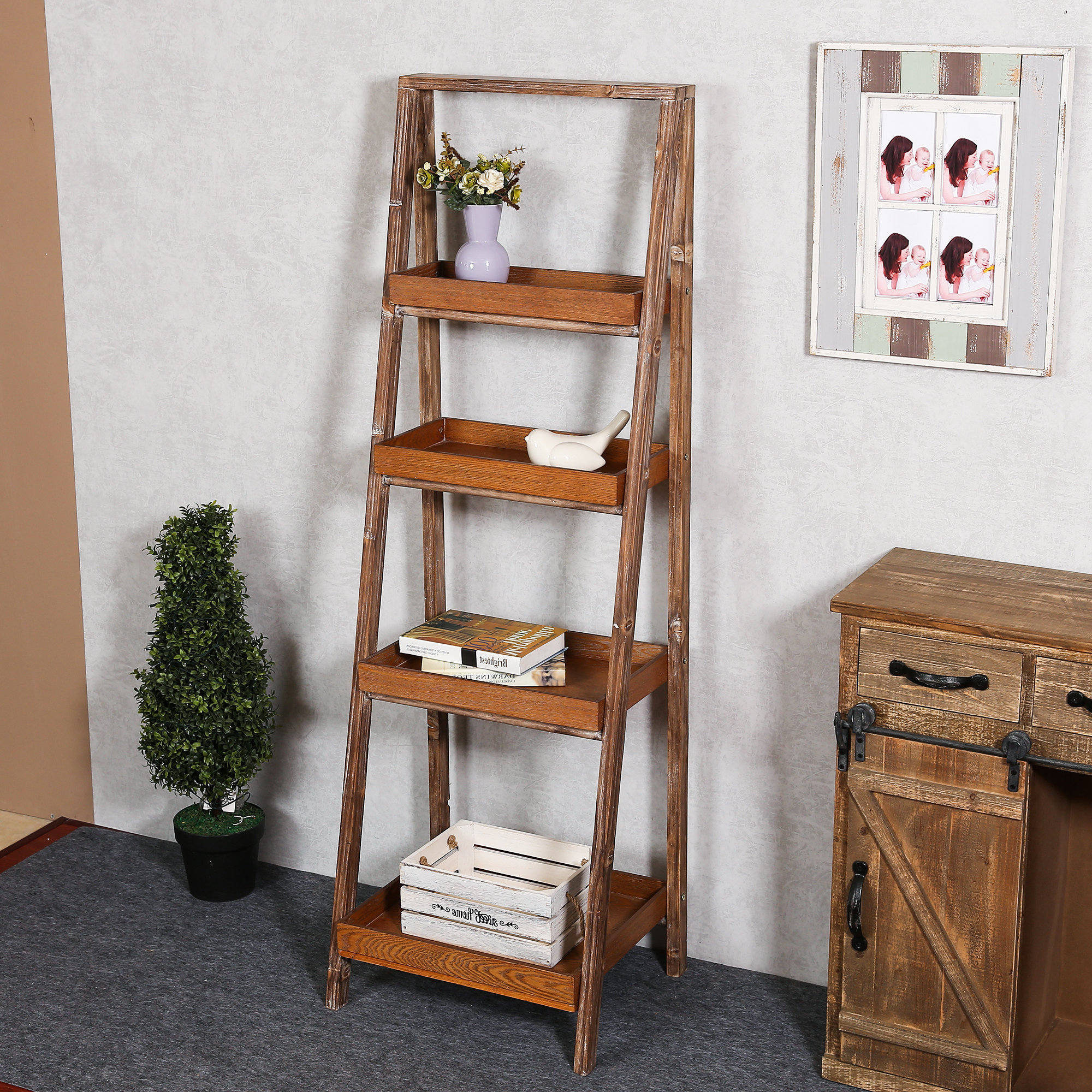 Brock Ladder Bookcases For Most Recently Released Abbigail Ladder Bookcase (View 5 of 20)