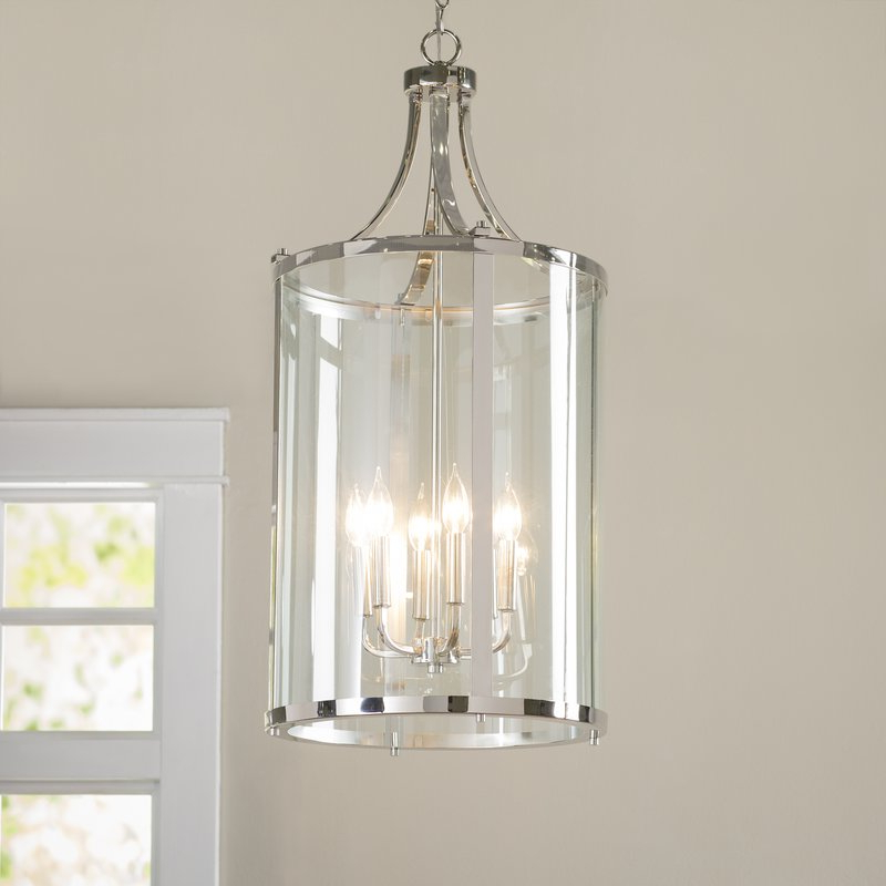 Brookville 6 Light Lantern Cylinder Pendant Within Preferred Tessie 3 Light Lantern Cylinder Pendants (Gallery 25 of 25)