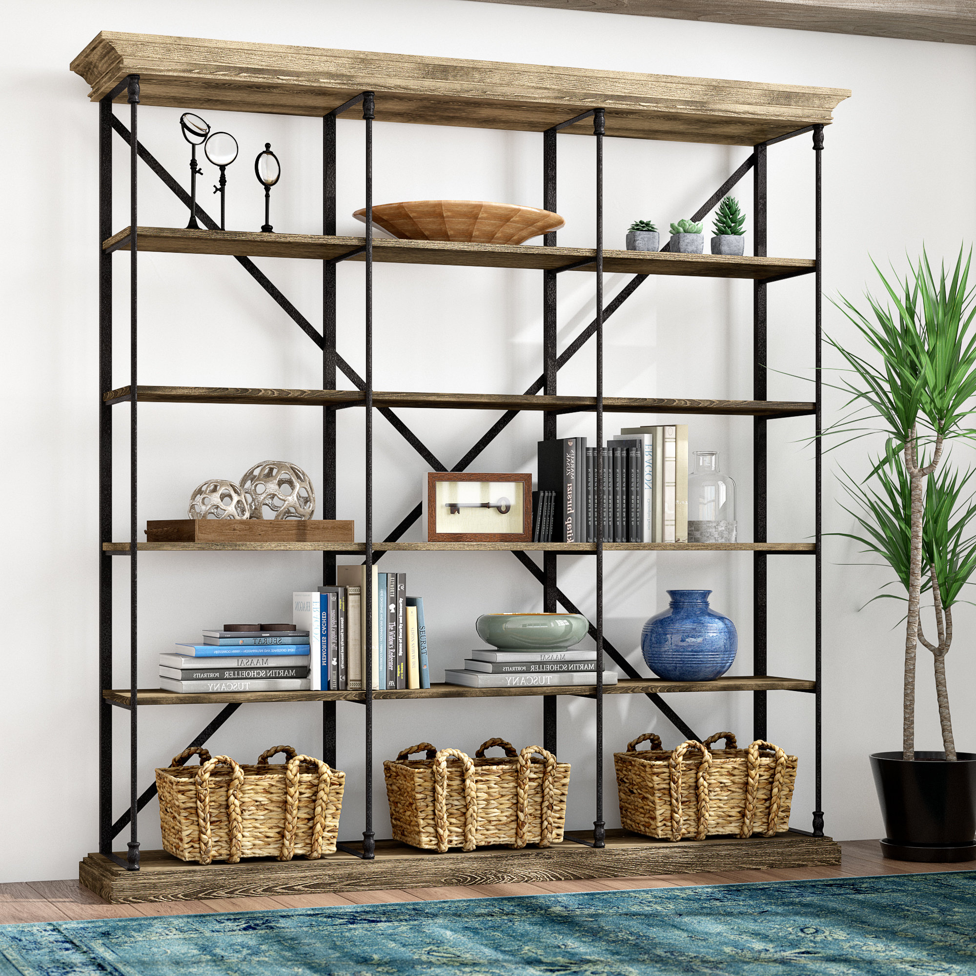 Brown Etagere Bookcases You'll Love In (View 6 of 20)