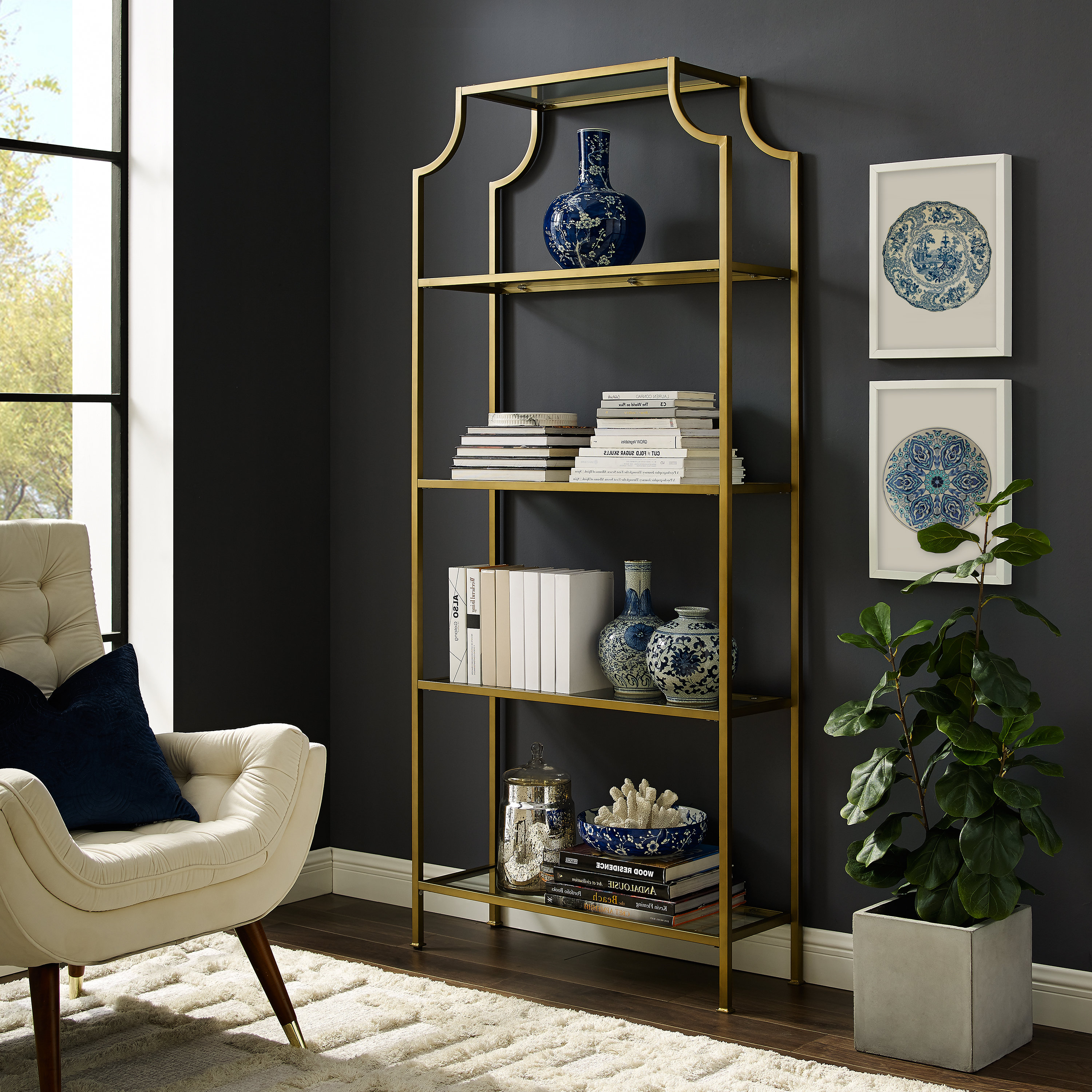 Buchanan Etagere Bookcases Regarding Popular Buchanan Etagere Bookcase (Gallery 15 of 20)
