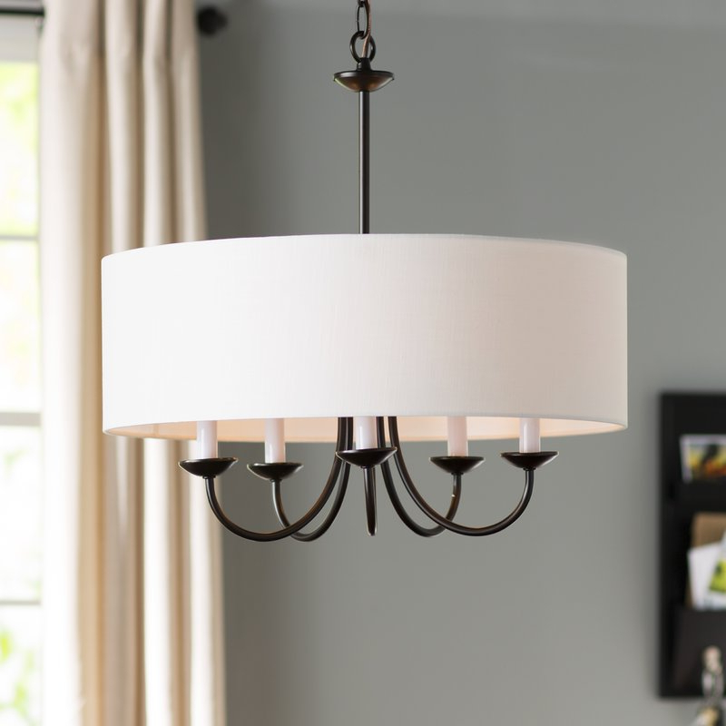 Featured Photo of Burton 5 Light Drum Chandeliers